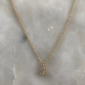 Jewelry - NWOT Gold & Crystal Necklace w/ Anchor Charm